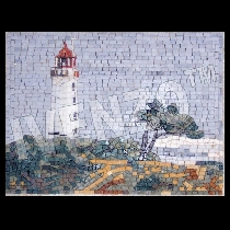 Mosaico Faro Hiddensee Dornbusch