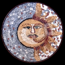 Mosaico sole e la luna - luminoso-scuro